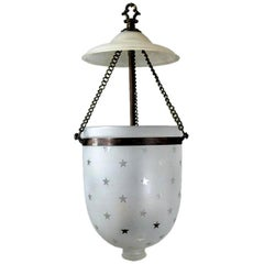 Nautical Star  Frosted Glass Bell Jar