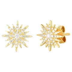 Star Diamond Stud Earrings, Gold, Ben Dannie