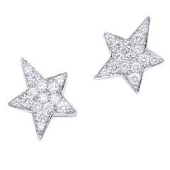 Star Diamond White Gold Earrings