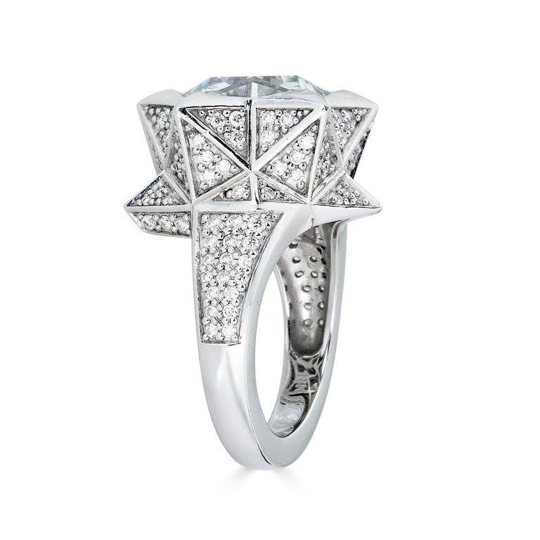 Women's or Men's Star Engagement Ring For Sale