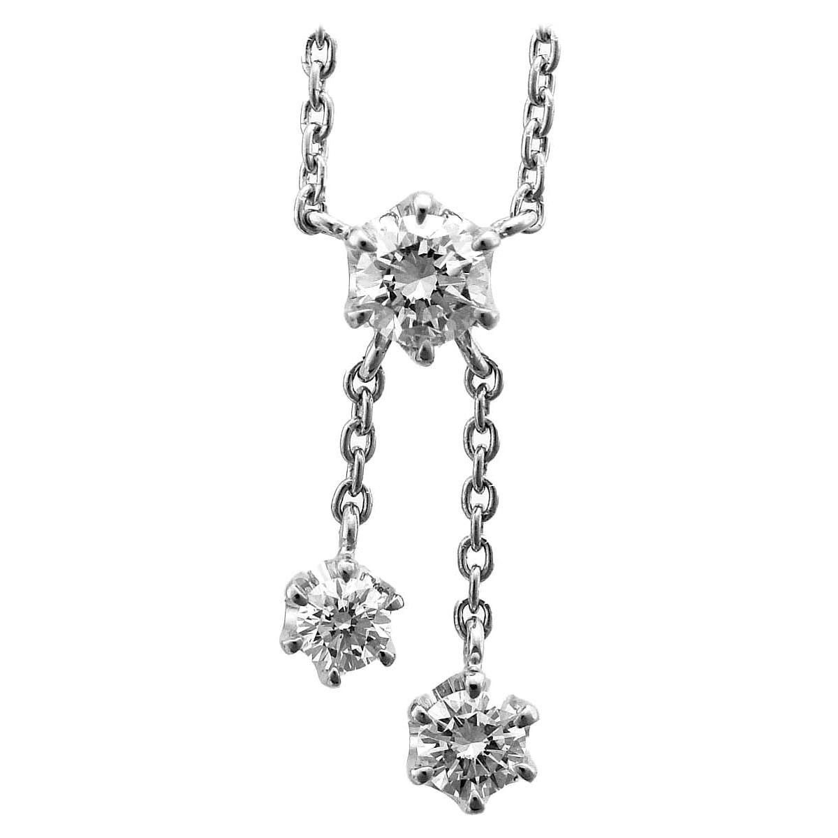 Star Jewelry 0.20 Carat Diamond Platinum Pendant Necklace