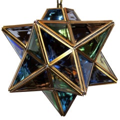 Star Leaded Glass Pendant Fixture