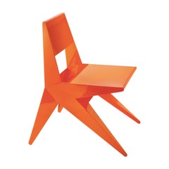 Star Orange Chair by Antonio Pio Saracino