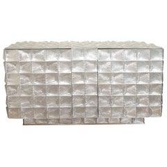Star Patterned Glass Design Cabinet