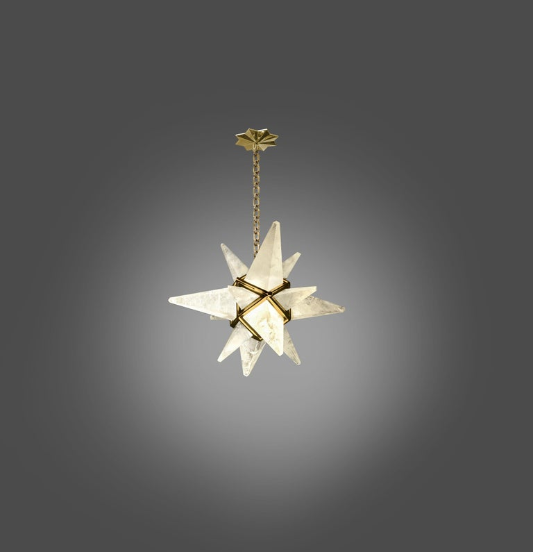 Star Rock Crystal Chandelier by Phoenix In Excellent Condition In New York, NY
