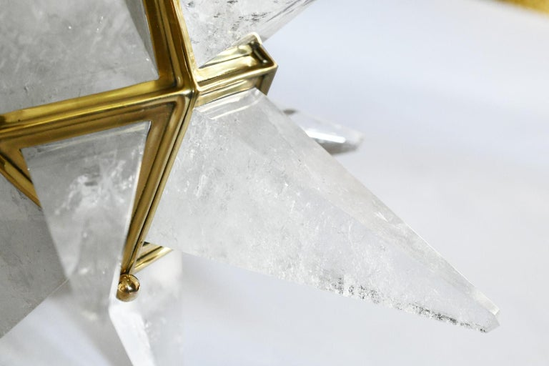 Contemporary Star Rock Crystal Chandelier by Phoenix