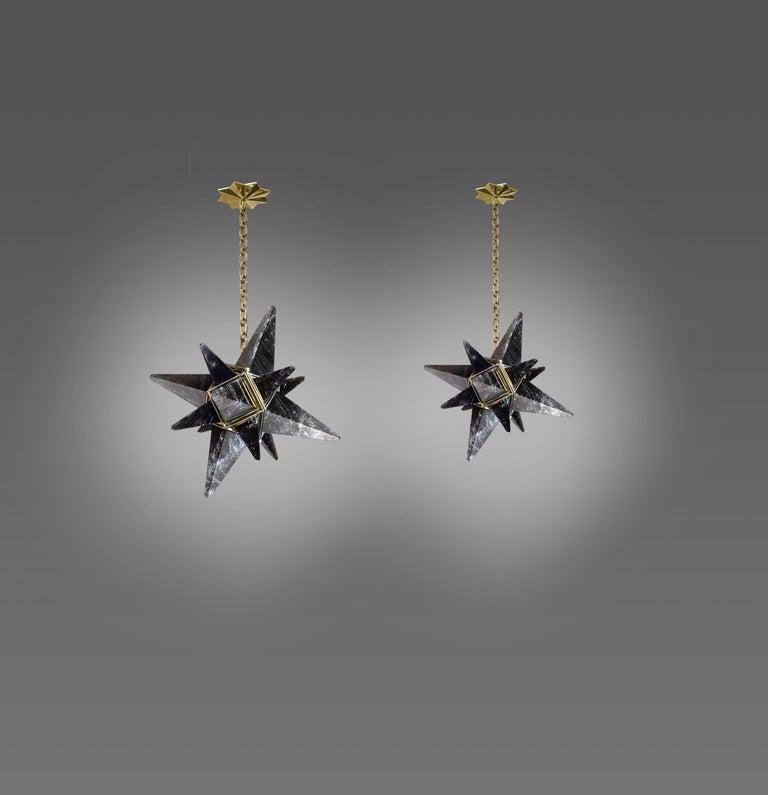 Star Rock Crystal Chandelier by Phoenix For Sale 1