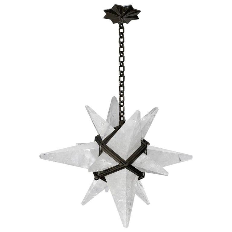 Star Rock Crystal Chandelier by Phoenix For Sale
