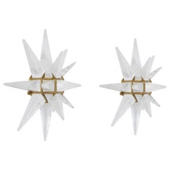 Star Rock Crystal Sconces by Phoenix