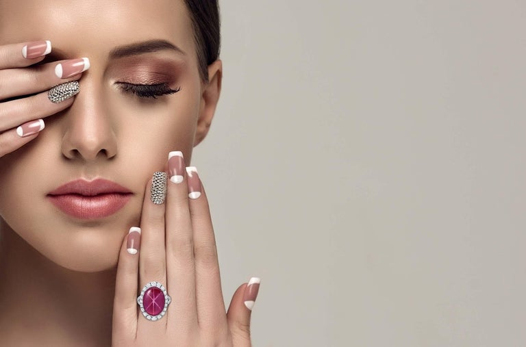 Oval Cut Star Ruby Ring  For Sale