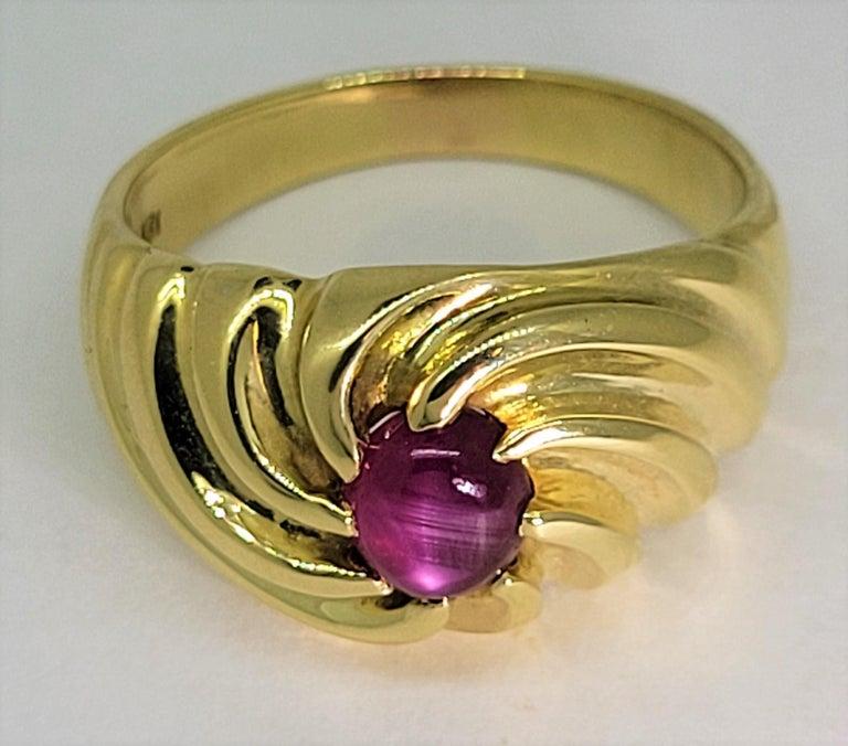 Star Ruby Ring 18 Karat Yellow Gold 2