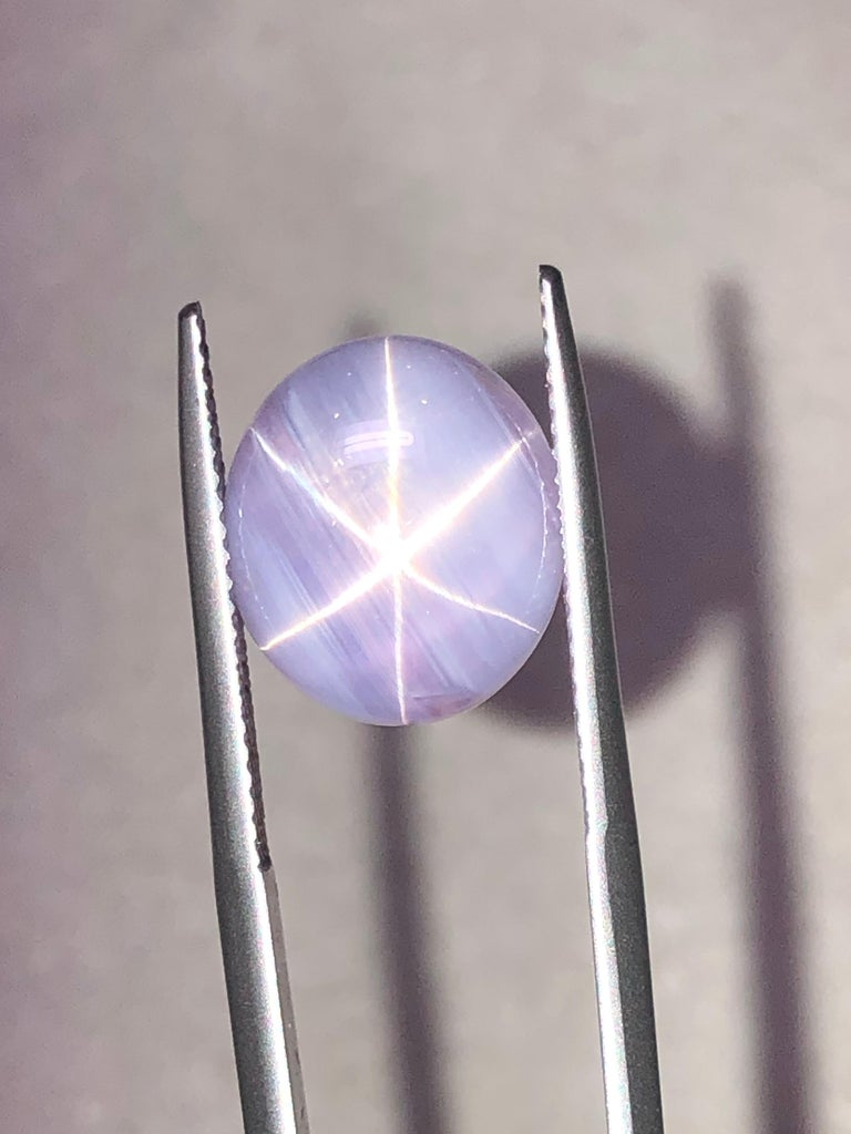 Star Sapphire Ring Gem 11.53 Carat No Heat Unset Loose Gemstone In New Condition For Sale In Beverly Hills, CA