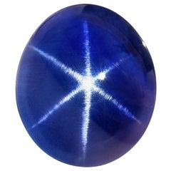 Star Sapphire Ring Gem 5.17 Carat No Heat