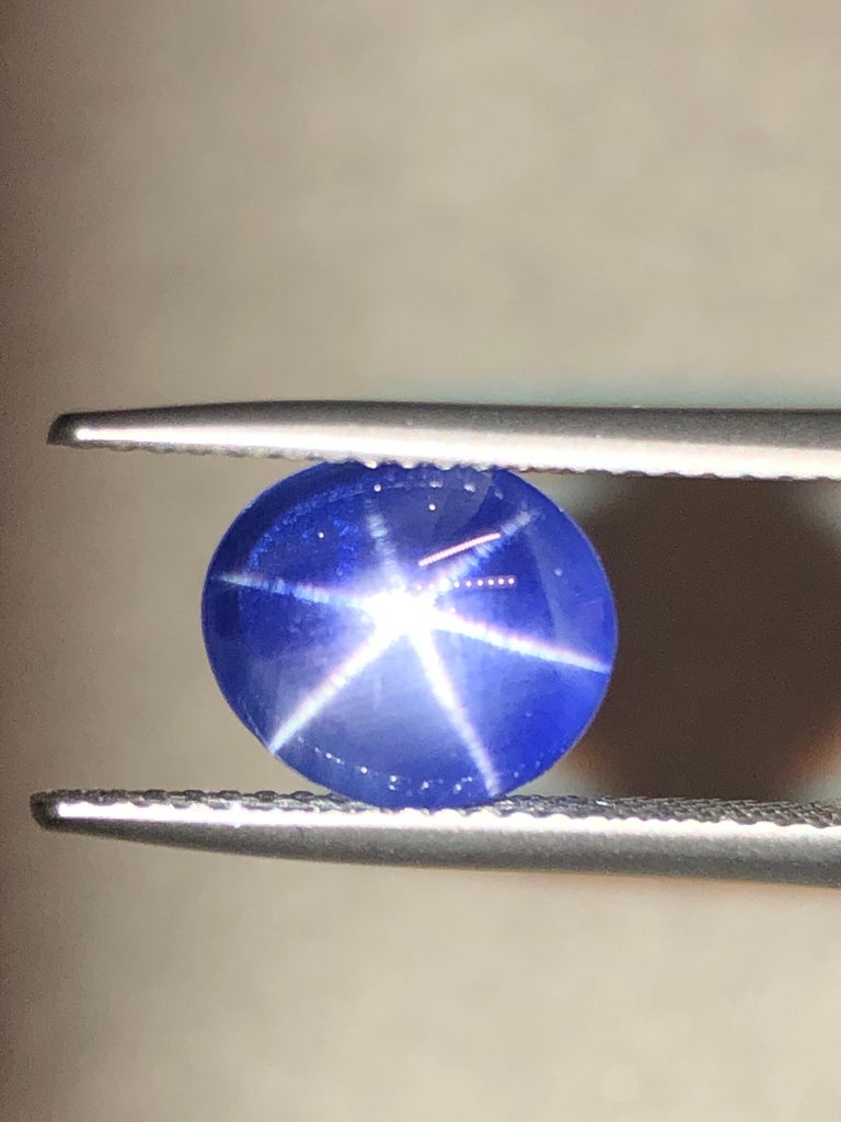 Contemporary Star Sapphire Ring Gem 5.17 Carat No Heat Loose Unset Gemstone For Sale
