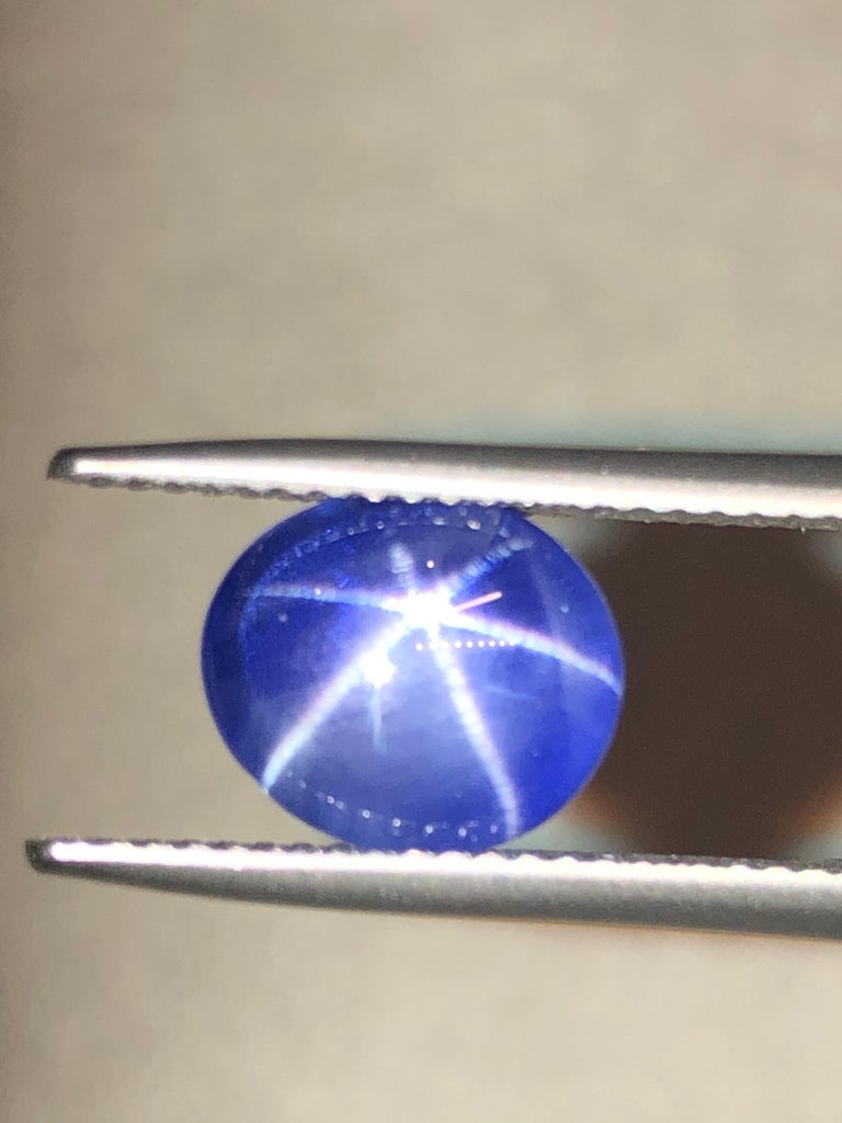 Cabochon Star Sapphire Ring Gem 5.17 Carat No Heat Loose Unset Gemstone For Sale