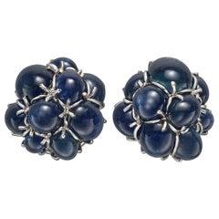 """Star Sapphire """"Bubble"""" Earrings"""