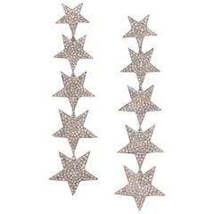 Star Shape Diamond Dangle Earring
