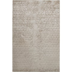Star Silk Hand-Knotted 6x4 Floor Rug in Silk by Helen Amy Murray