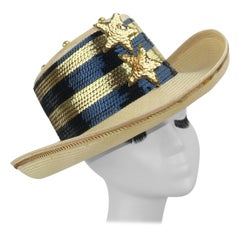 Star Spangled Sequin Straw Hat