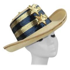 Star Spangled Sequin Straw Hat