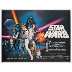 Star Wars Original 1977 UK Quad Style C Oscars Film Poster, Chantrell