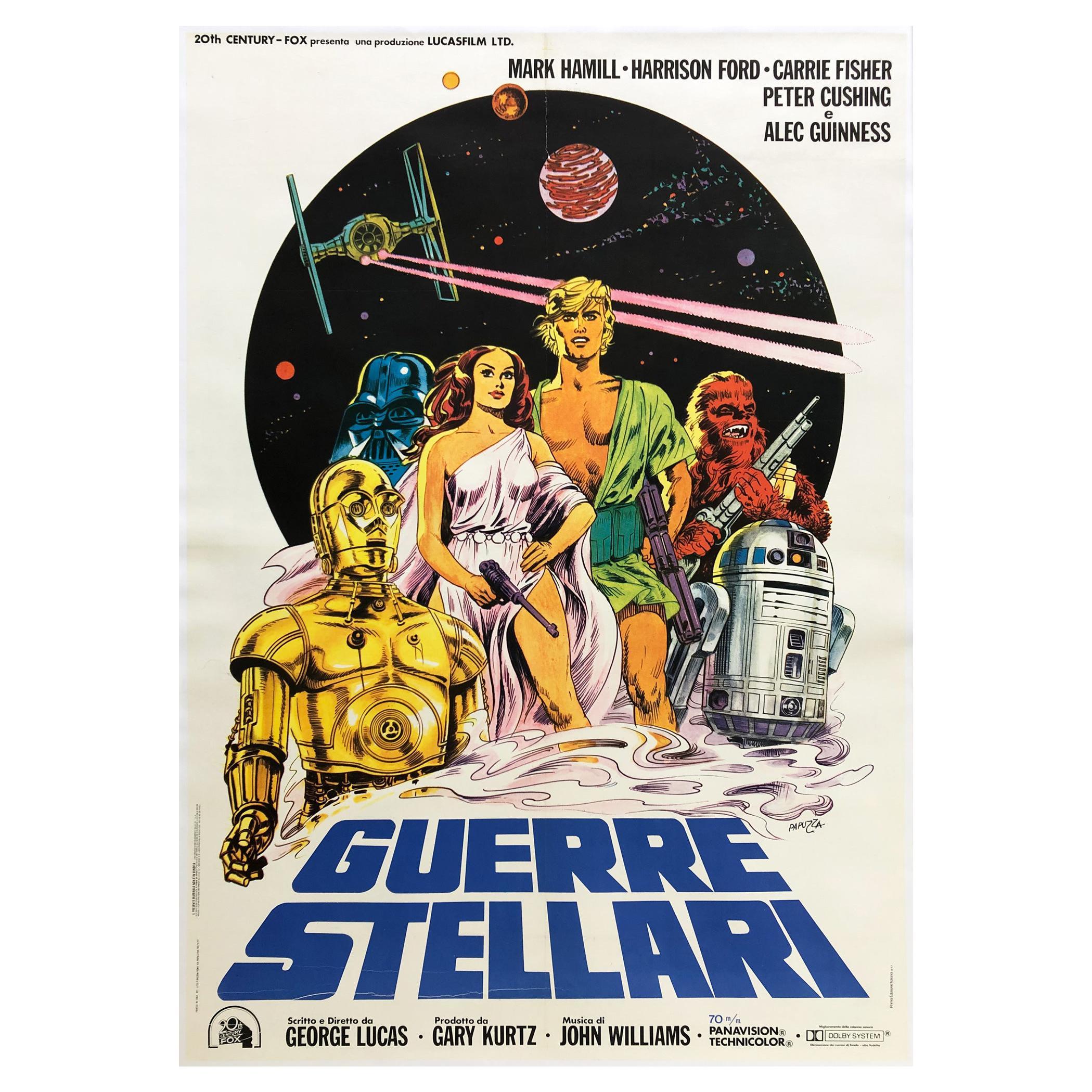 Star Wars Original Italian Film Movie Poster, 1977, Large - Linen Backed