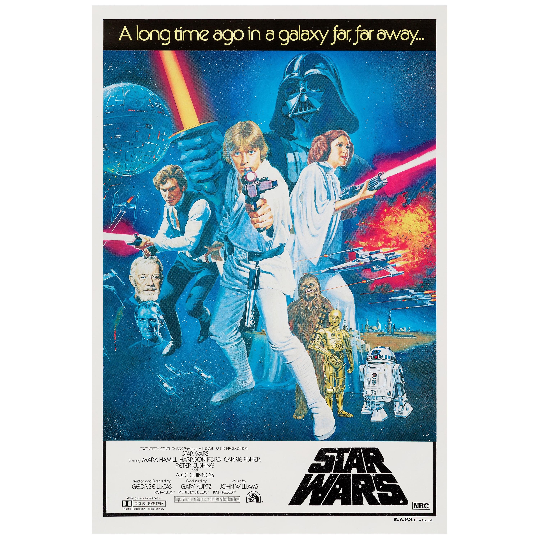 'Star Wars' Original Vintage Australian One Sheet Movie Poster, 1977