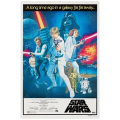 'Star Wars' Original Vintage Australian One Sheet Movie Poster, 1977