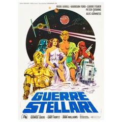 'Star Wars' Original Vintage Italian Movie Poster by Michelangelo Papuzza, 1977