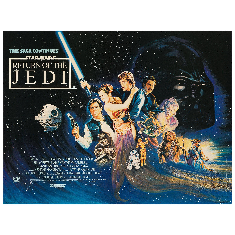 """Star Wars """"Return of the Jedi"""" Original Vintage Movie Poster, British, 1983"""