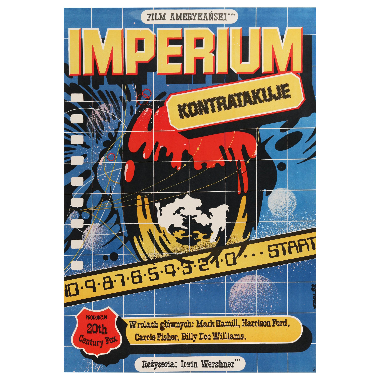 Star Wars 'The Empire Strikes Back' Original Vintage Movie Poster, Polish, 1983