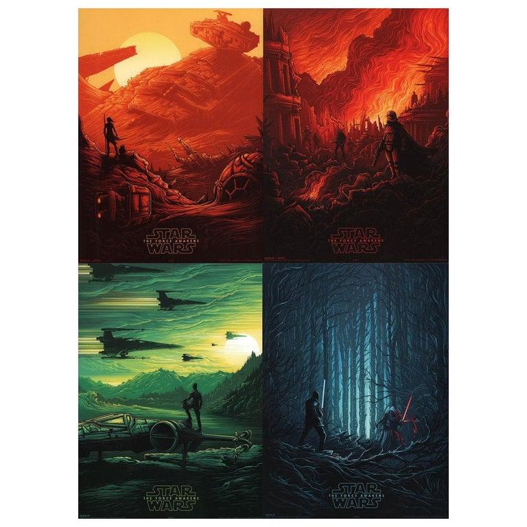 """Star Wars: The Force Awakens"" 2015 U.S. Mini Film Poster, Set of 4 For Sale"