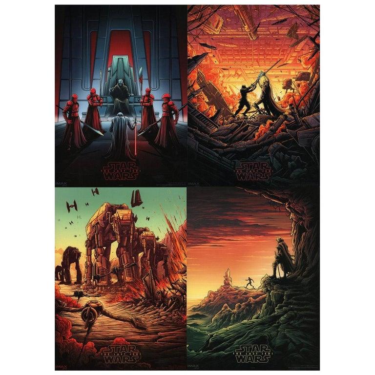 """Star Wars The Last Jedi"" 2017 U.S. Mini Film Poster Set of 4 For Sale"