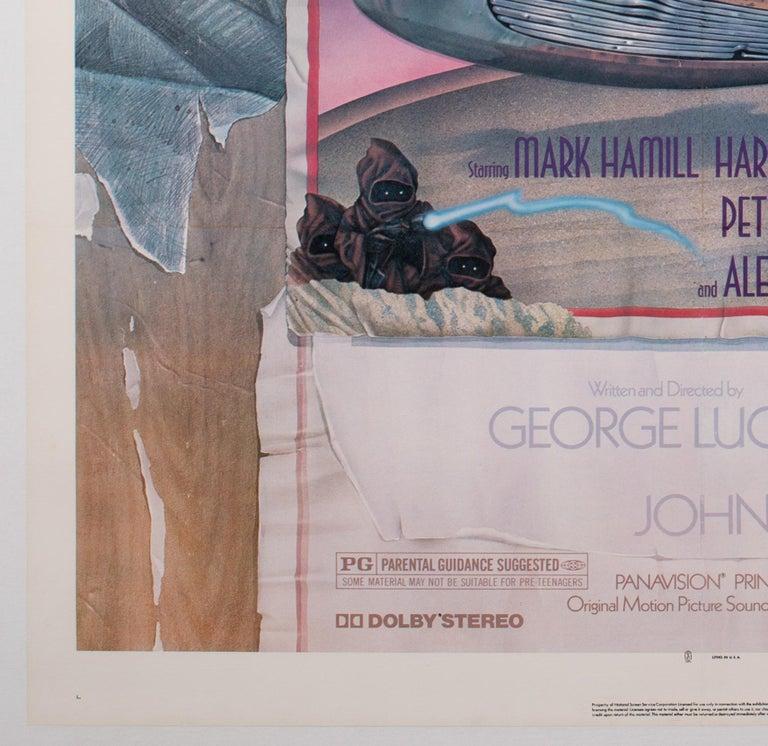 Star Wars US 1 Sheet Style D Original Film Movie Poster, Struzen, 1977 In Excellent Condition For Sale In Bath, Somerset