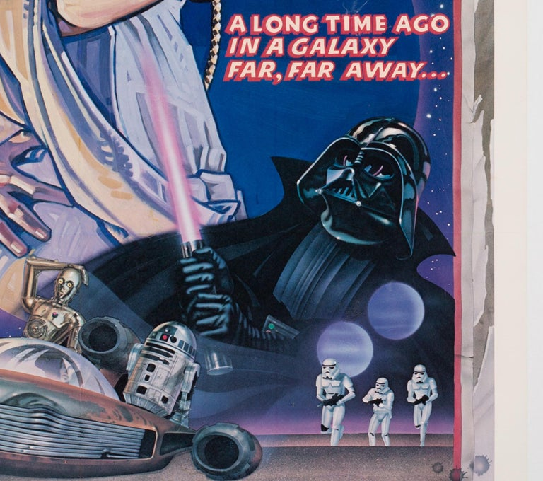 20th Century Star Wars US 1 Sheet Style D Original Film Movie Poster, Struzen, 1977 For Sale