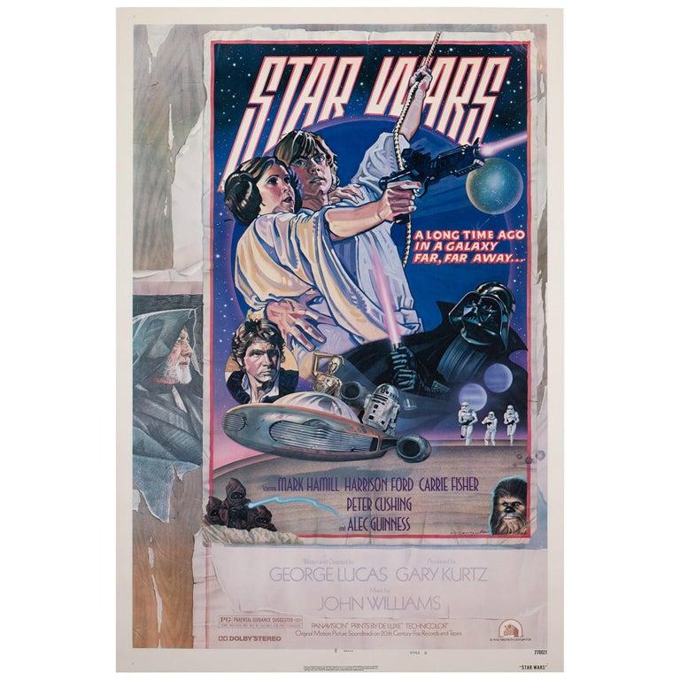 Star Wars US 1 Sheet Style D Original Film Movie Poster, Struzen, 1977 For Sale