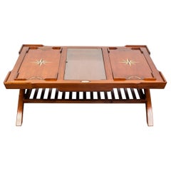 Starbay 'Ceylan' Modern Colonial Style Mixed Wood Tray Top Coffee Table