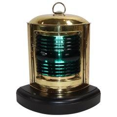 Starboard Boat Lantern of Sold Brass