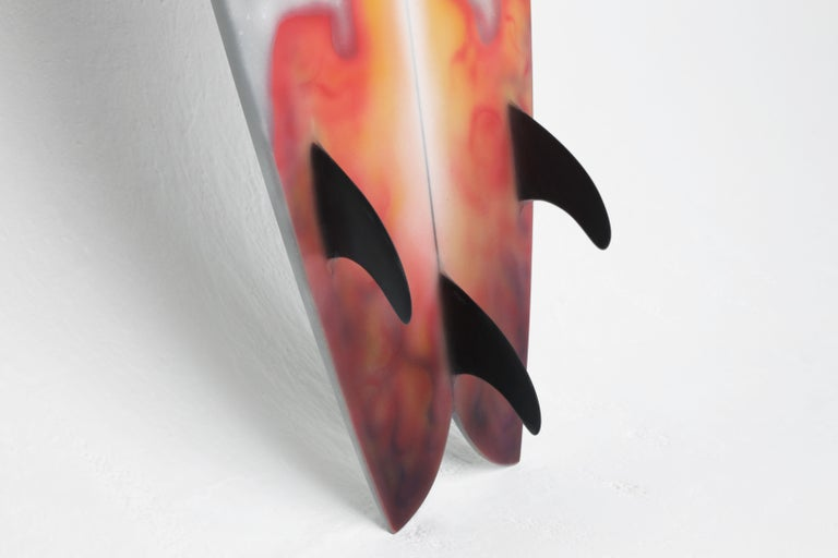 Hand-Painted StarBoard Surfboard Sculpture by Christopher Kreiling Studio For Sale