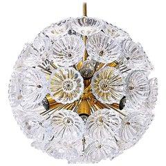 Starburst Chandelier Sputnik Lamp Glass Flower, 1960s, Germany