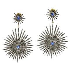 Starburst Kyanite Diamond Earrings