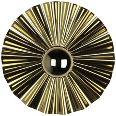 Starburst Sconce, Gold with Gold Dipped Bulb, 2021 by Christopher Kreiling