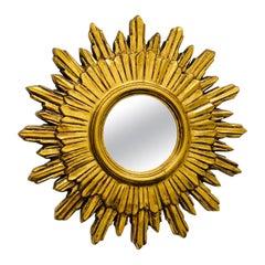 Starburst Sunburst Mirror Hollywood Regency Style, circa 1970s, France