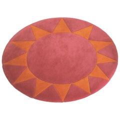 Stargaze Handmade Wool Pink and Orange Children's Rug by Groundplans