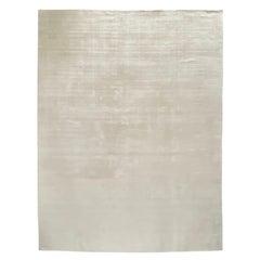 Stark Carpet White and Silver Custom Handmade Rug