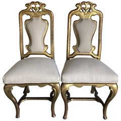 Starlet Pair of French Giltwood Chairs