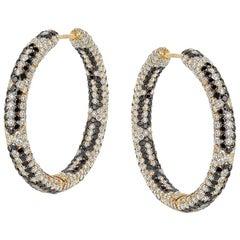 Starlight 18 Karat Yellow Gold Infinity Hoop Earrings