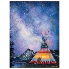 Starlight Original Oil Painting by Jerry Crandall