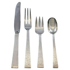 Starlit by Allan Adler Sterling Silver Flatware Set for 12 Service 55 Pieces