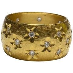 Starry Nights Diamond Ring in 22 Karat Gold, A2 by Arunashi